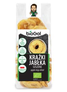 krążki jabłka suszone 100 g - BioGol spoza UE