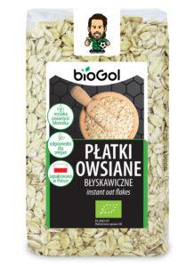 płatki owsiane błyskawiczne 300 g - BioGol spoza UE